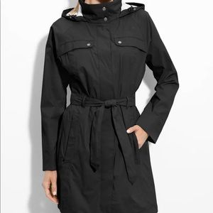 The North Face Grace Trench Coat Black Small Warm